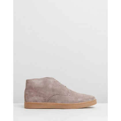 Lovett Suede Boots Taupe by Staple Superior