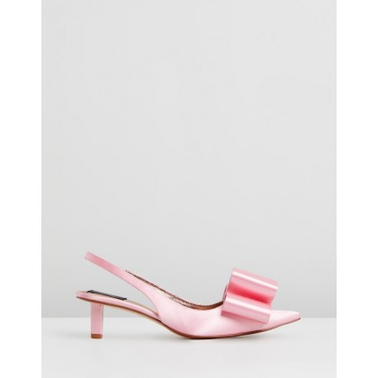 Low Slingback Pumps With Bow Pink by Marc Jacobs
