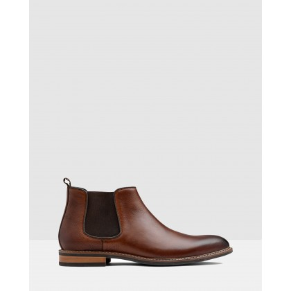 Lucca Chelsea Boots Tan by Aq By Aquila