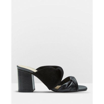 Luna Leather And Suede Mules Black by Oxford