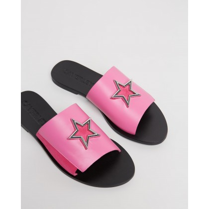 Luna Slides Hot Pink by Caverley