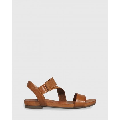Lyla Contoured Footbed Flat Sandals Brown by Wittner