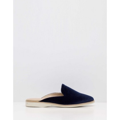 Madison Mule Flats Navy by Rollie