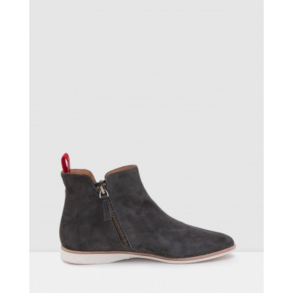 Madison Side Zip Boots Charcoal by Rollie