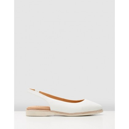 Madison Slingback Shoes White by Rollie