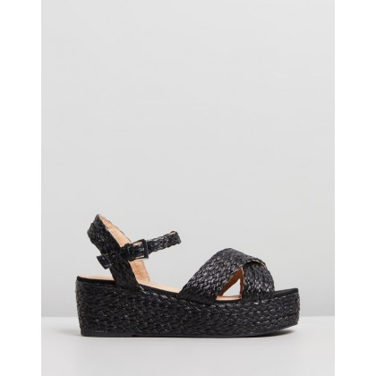Madrid Black Woven Raffia by Therapy