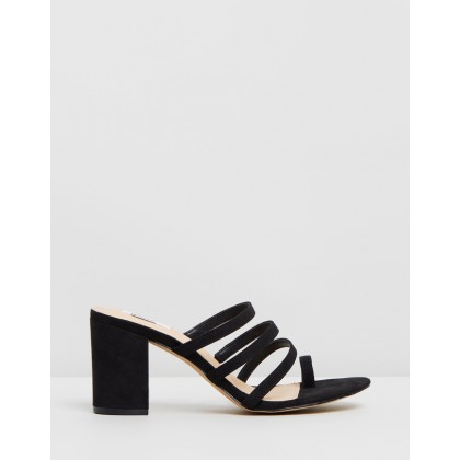 Madrid Mules Black Microsuede by Dazie