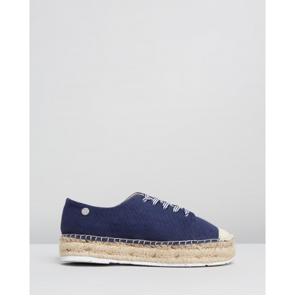 Maisy Lace-Ups Navy by Walnut Melbourne