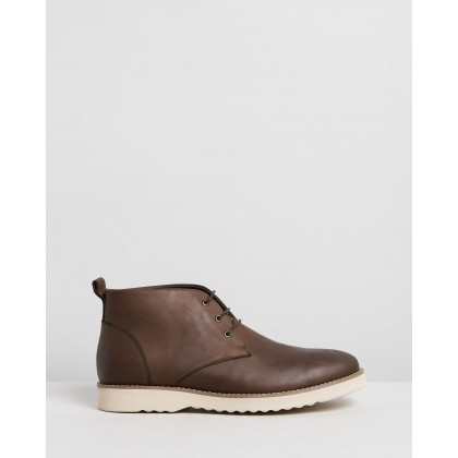 Maitland Leather Chukka Boots Brown by Double Oak Mills