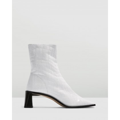 Maja Boots White by Topshop