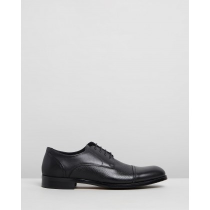 Malcolm Leather Derby Shoes Black by Double Oak Mills