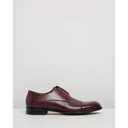 Malcolm Leather Derby Shoes Brown by Double Oak Mills