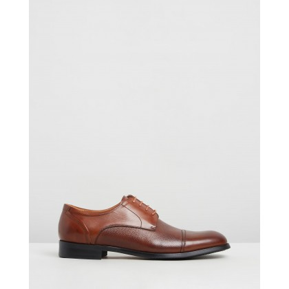 Malcolm Leather Derby Shoes Tan by Double Oak Mills