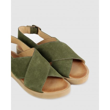 Mandy Sandals 96-green by S By Sempre Di
