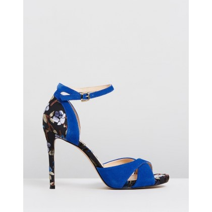 Mara Blue with Floral Heel by Nina Armando