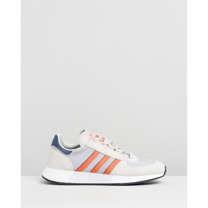 Marathon Tech - Unisex Raw White, Active Orange & Collegiate Navy by Adidas Originals