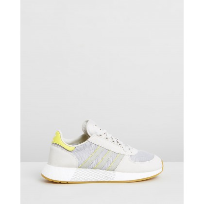 Marathon Tech - Women's Raw White, Sesame & Bright Yellow by Adidas Originals