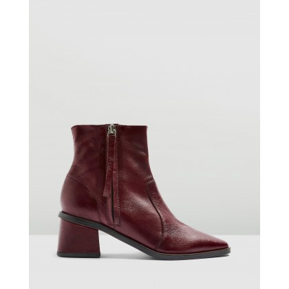 Margot Mid Boots Burgundy by Topshop