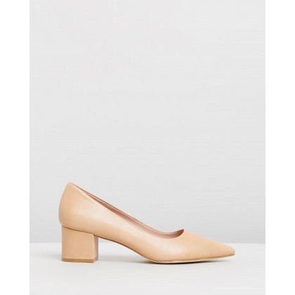 Marika Leather Pumps Nude Leather by Atmos&Here