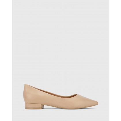 Marina Pointed Toe Flats Nude by Wittner