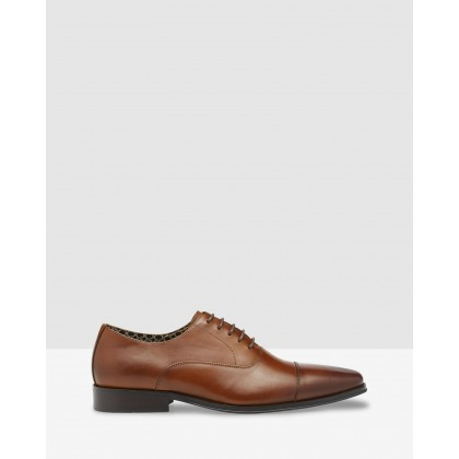 Mario Leather Oxford Shoes Cognac by Oxford