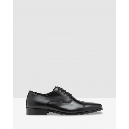 Mario Leather Oxford Shoes Black by Oxford
