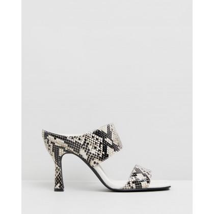 Marisol Heels Python by Sol Sana