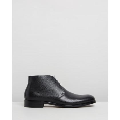 Martin Leather Dress Boots Black by Double Oak Mills