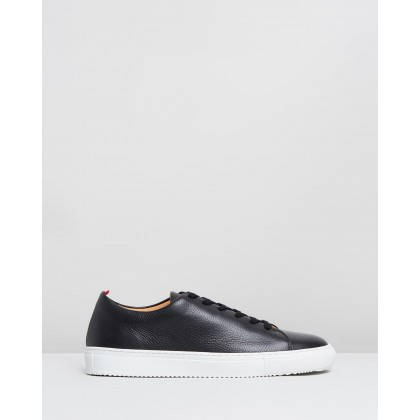 Marton Trainers Black Pebble Leather by Oliver Spencer
