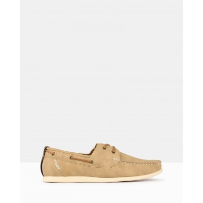 Master Boat Shoes Taupe by Betts