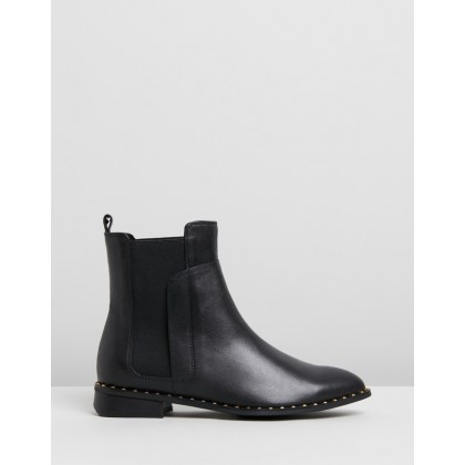 Max Leather Ankle Boots Black by Walnut Melbourne