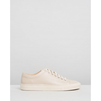 Meadows Leather Sneakers Nude by Double Oak Mills