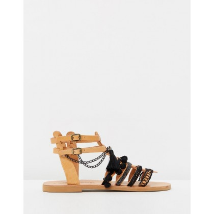 Media Sandals Black by Ammos