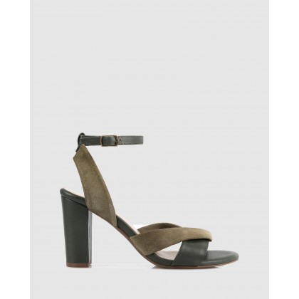 Melissa Heeled Sandals Dark Green-Grey by S By Sempre Di