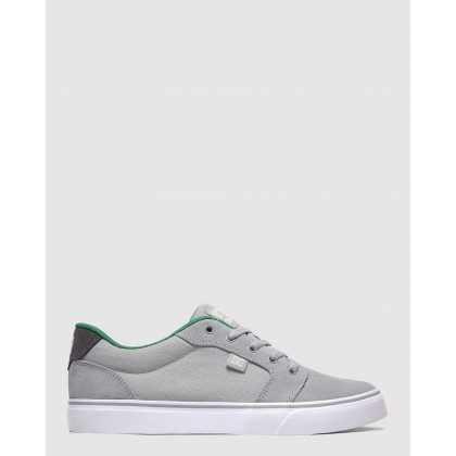 Mens Anvil Shoe Grey/Grey/Green by Dc Shoes