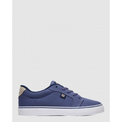 Mens Anvil TX Shoe Indigo by Dc Shoes