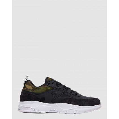 Mens E.Tribeka SE Shoe Black/Camo Print by Dc Shoes