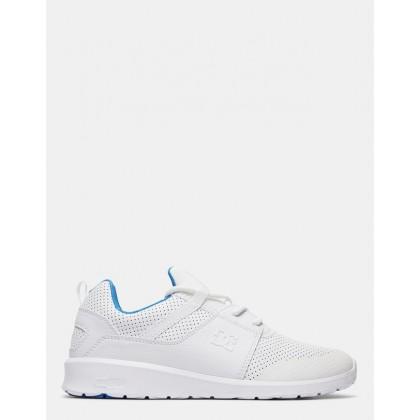 Mens Heathrow Prestige Shoes White/Blue by Dc Shoes