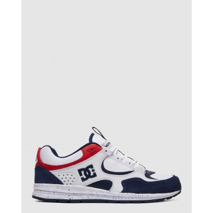 Mens Kalis Lite SE Shoes White/Red/Blue by Dc Shoes