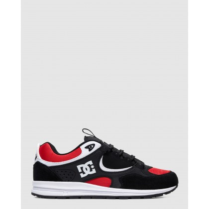 Mens Kalis Lite Shoe Black/Athletic Red/W by Dc Shoes