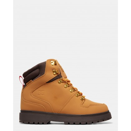 Mens Peary Winter Boots Wheat/Dk Chocolate by Dc Shoes