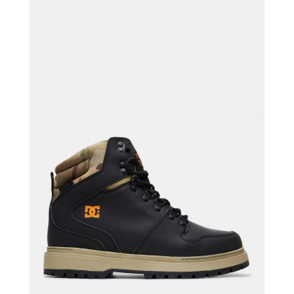 Mens Peary Winter Boots Black/Multi by Dc Shoes