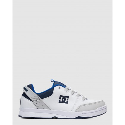 Mens Syntax Shoe White/Grey/Blue by Dc Shoes
