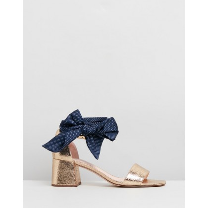 Metallic Tie Penny Sandals Gold by J.Crew