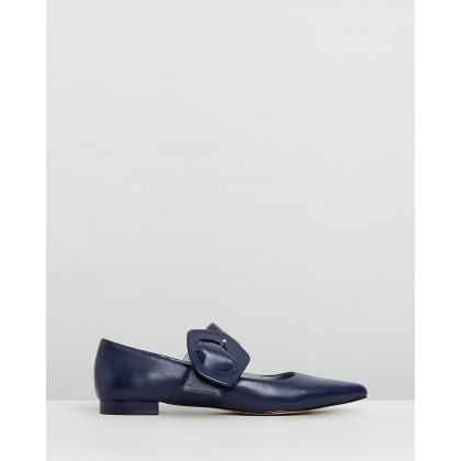 Mia Mary Jane Flats Navy by Mara & Mine