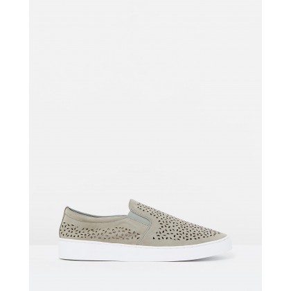 Midi Perf Slip-on Sneakers Grey by Vionic