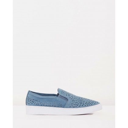 Midi Perf Slip-On Sneakers Light Blue by Vionic