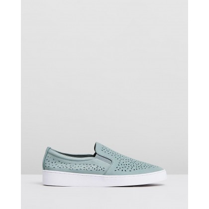 Midi Perf Slip-on Sneakers Mint by Vionic