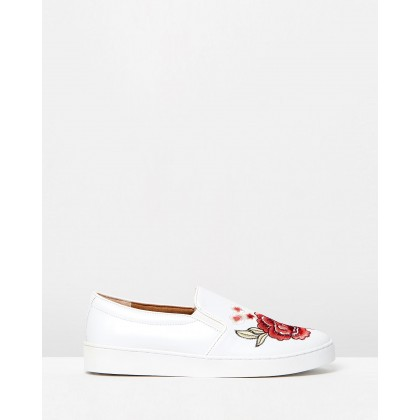 Midi Slip-on Sneakers White Floral by Vionic