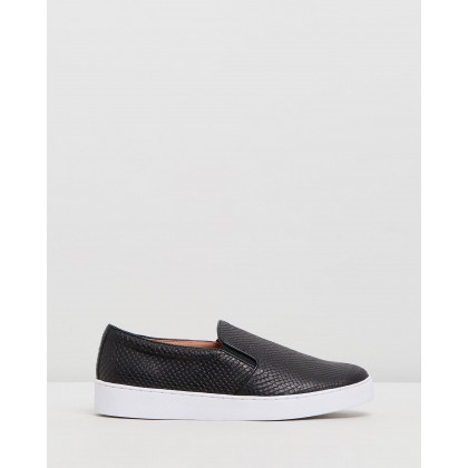 Midi Snake Slip-On Sneakers Black Snake by Vionic